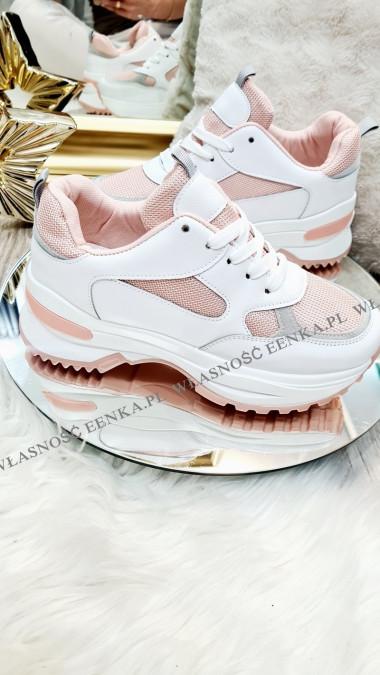 Sneakersy Damskie Różowe Rosa