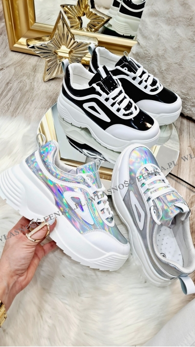 Sneakersy Holo & Black 2 Kolory Lisa