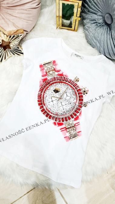 Bluzka Zegarek Biała