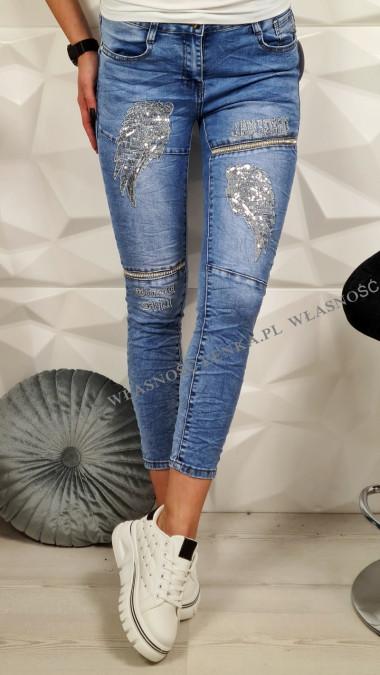 Elastyczne Jeansy Skrzydła
