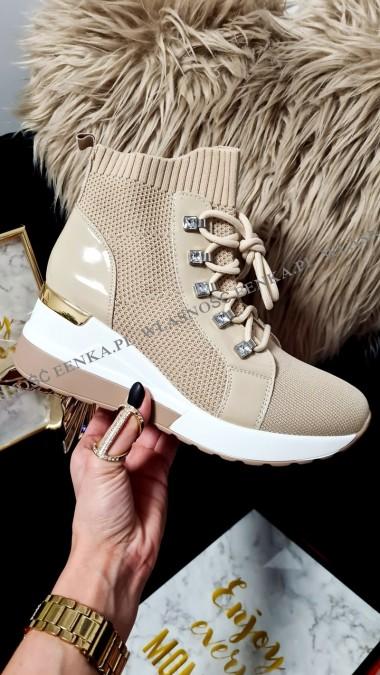 Wyższe Sneakersy Skarpetka...