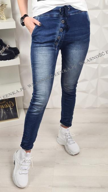Jeans Baggy Guziki Ciemne