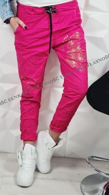 Spodnie Elastyczne Złoty Miś Różowe
