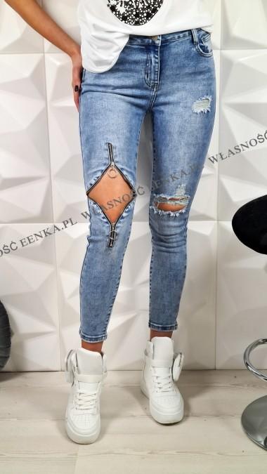 Spodnie Jeansy Elastyczne...