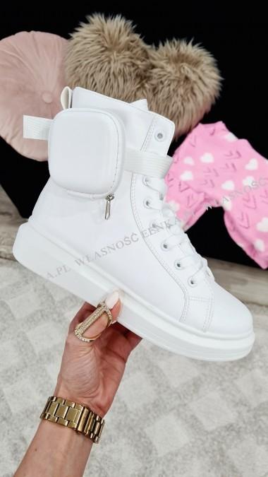 Sneakersy Białe Kieszonka