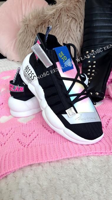 Adidasy GeJD Czarno Białe