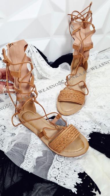 Rzymianki Sandały Camel