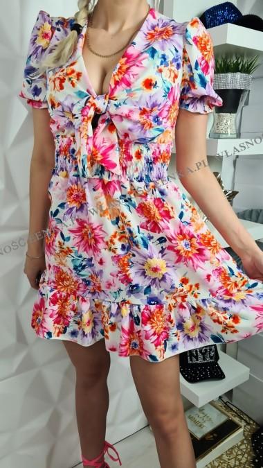 Sukienka Kwiaty Kokardka 2...