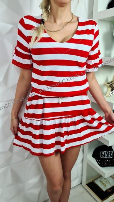 Sukienka Paski Falbanka 3...