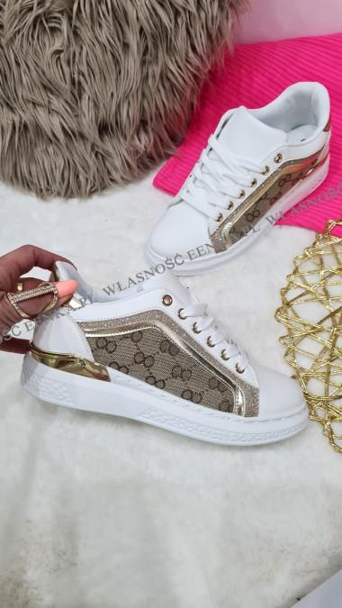 Sneakersy Biel Złoto Shine