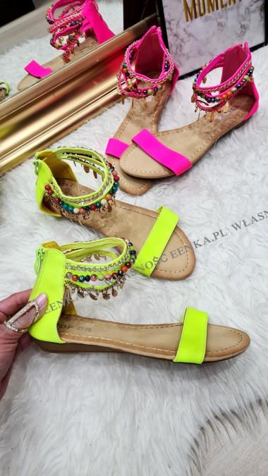 Sandałki Koraliki Neon