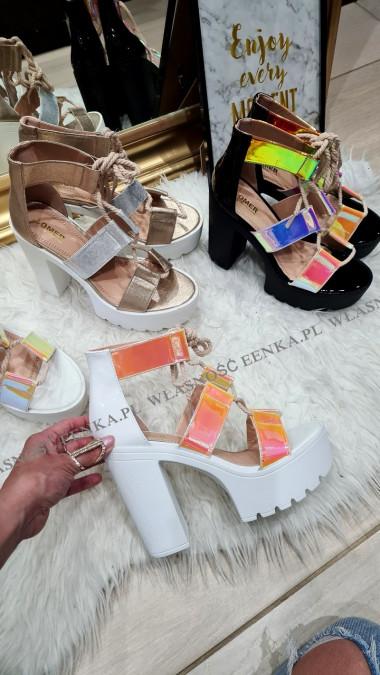 Sandały Słupek 3 Kolory Platforma Ola