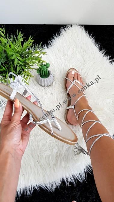 Sandałki Wiązane Silver
