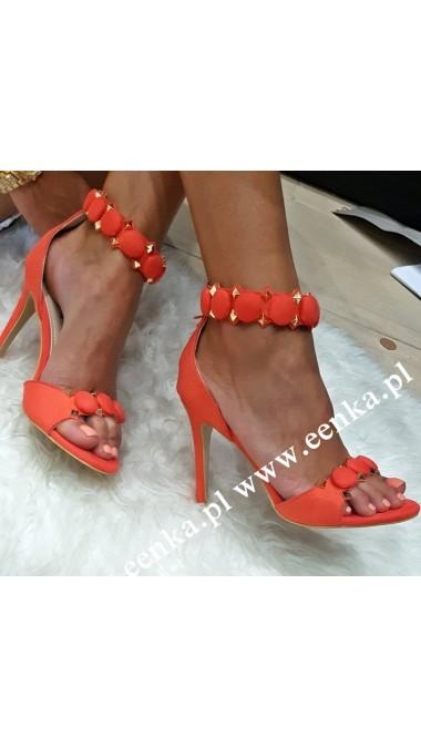 Sandały Na Szpilce Orange