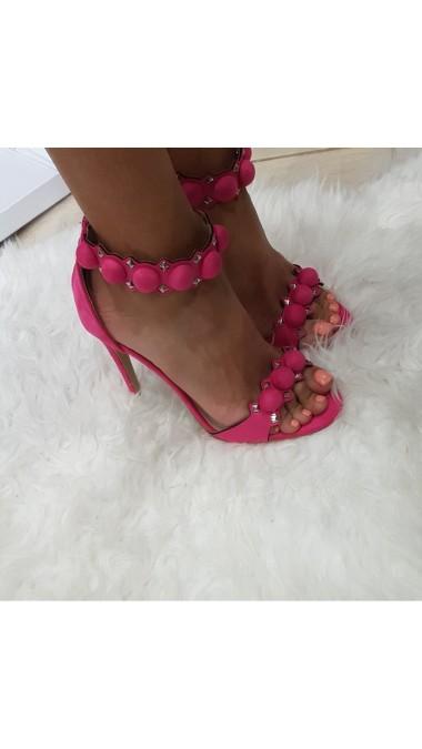 Sandały Na Szpice Fuksja