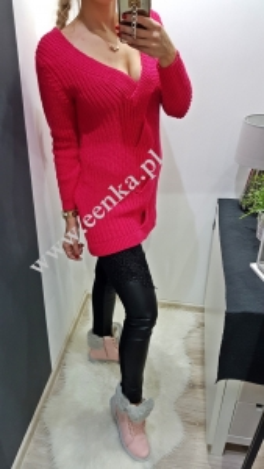 Sweter Tunika Amarant