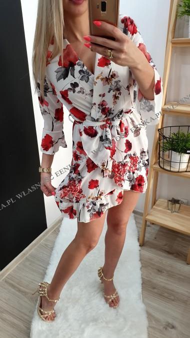 Sukienka Kwiaty 3 Wzory