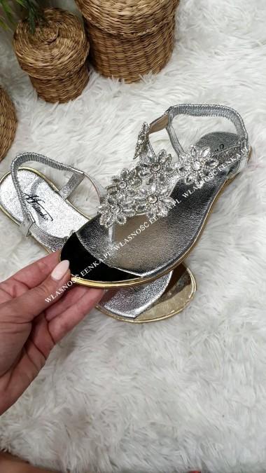 Sandałki Kamienie SILVER