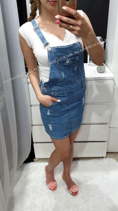 Sukienka Ogrodniczka Jeans