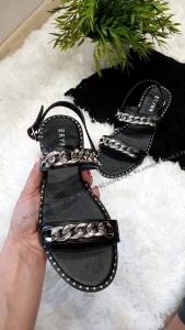 Sandałki Srebrny Łańcuch