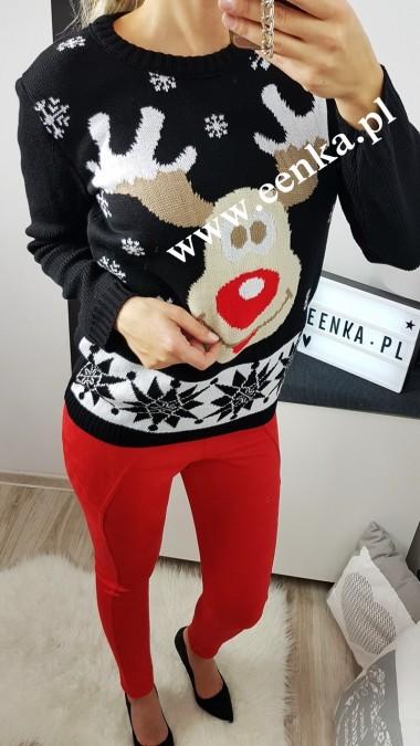 Sweter Renifer Czarny