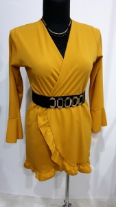 Sukienka z Paskiem 2 Kolory