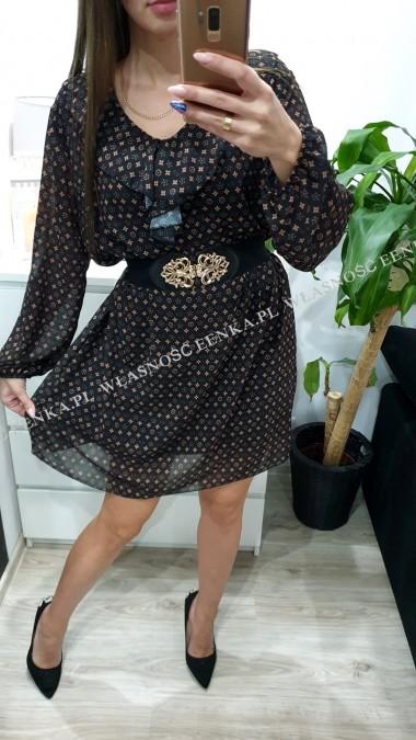Sukienka Wzory Falbanka M-XXXL