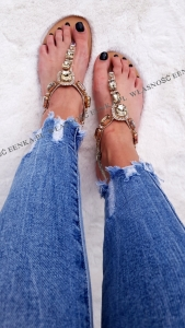 Sandałki Kamienie Złote