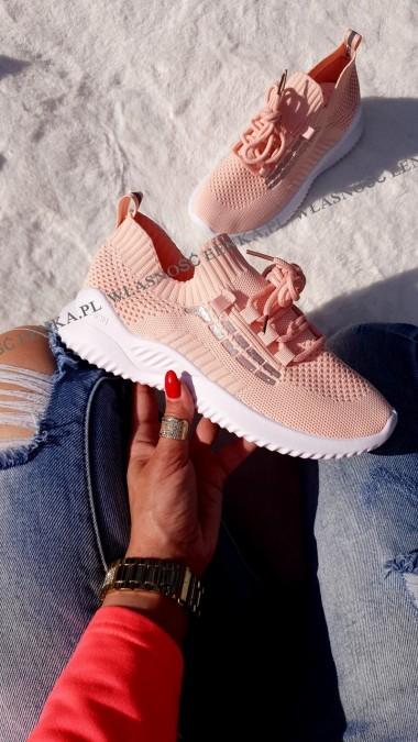 Lekkie Adidasy Pink Skarpetka