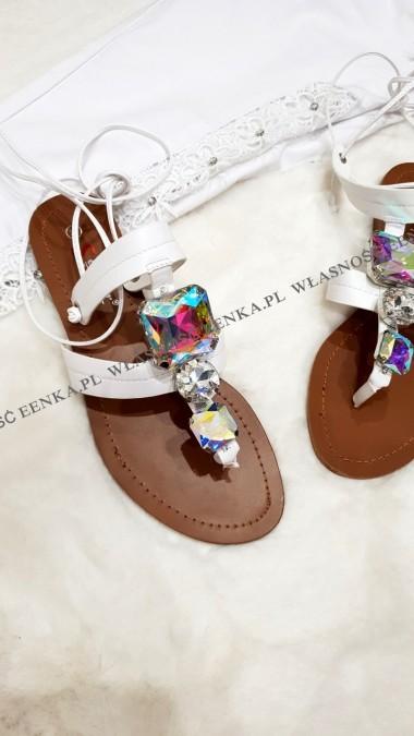 Sandałki Rzemyki Kamień Białe